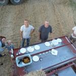 Aftesmad bragt ud i felten.